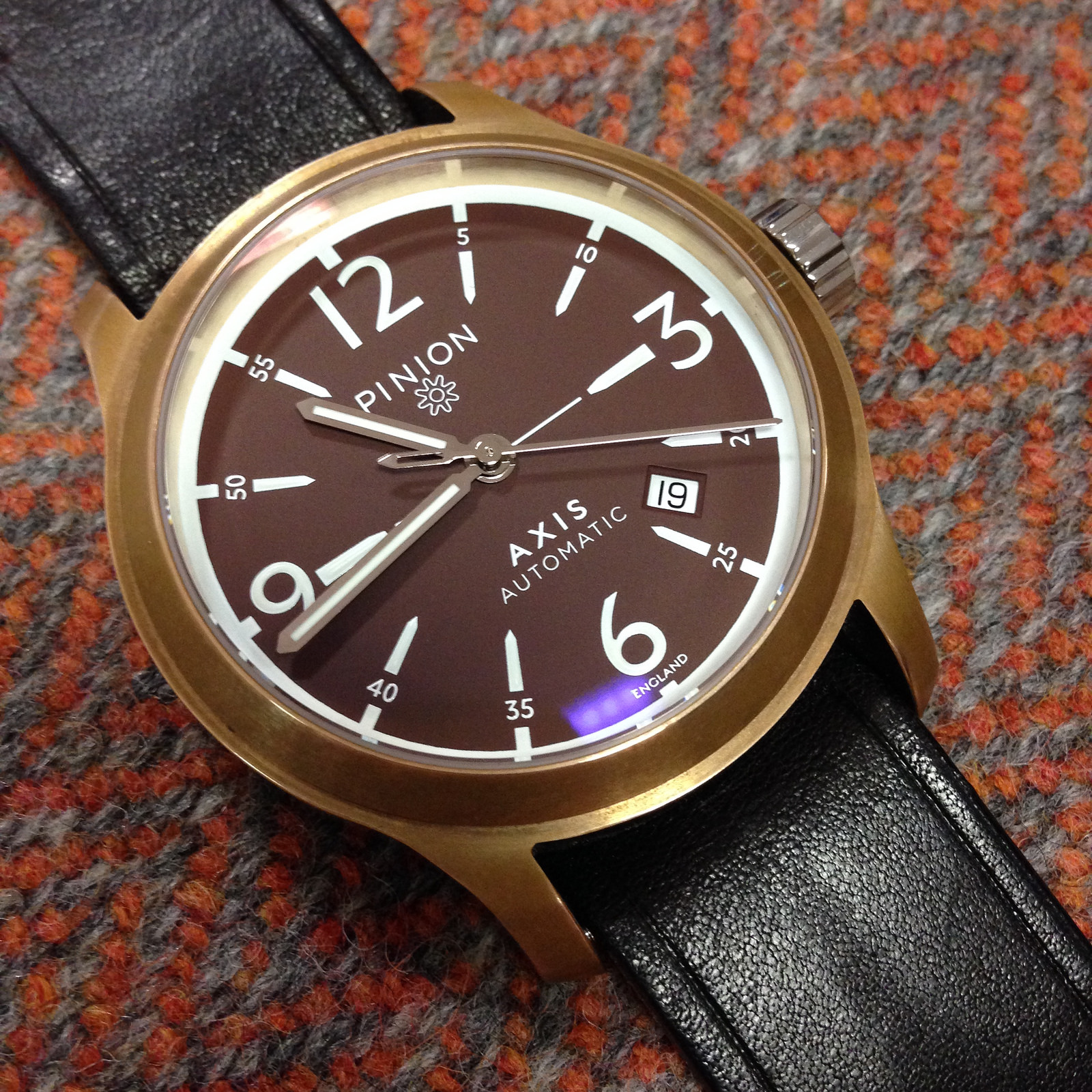 british the ii watch watches axis pinion bronze collection