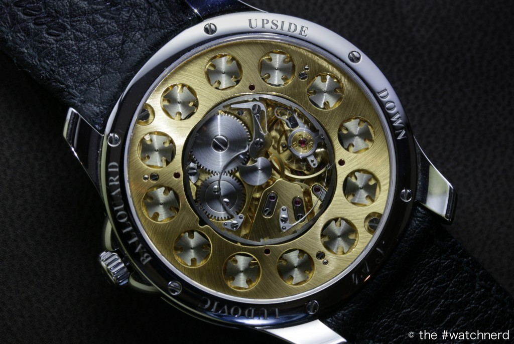 Ludovic Ballouard's B01 movement seen at SalonQP 2015