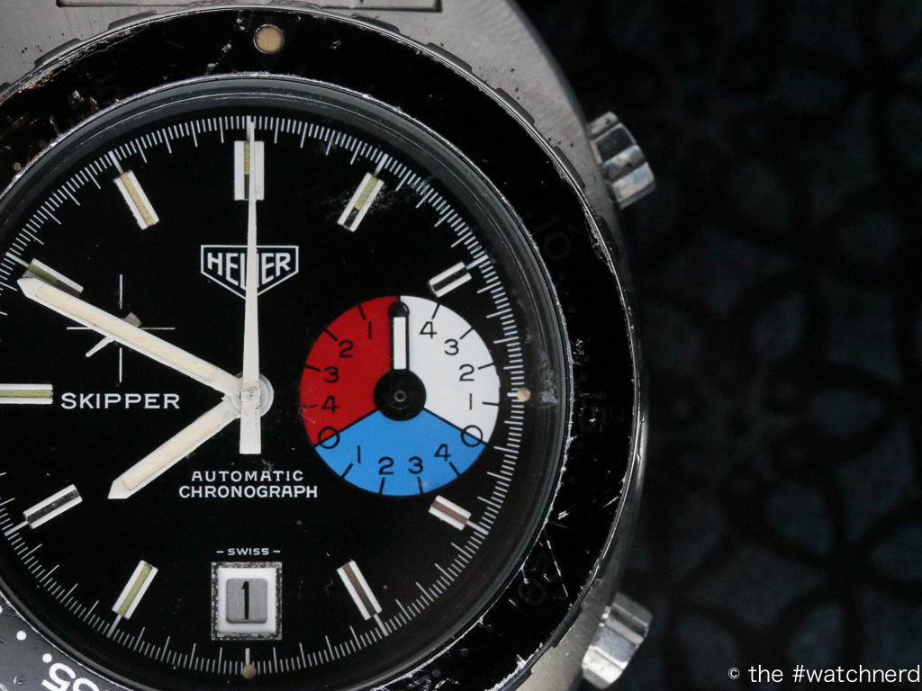 Black-dialled Heuer Skipper belonging to @Heuer_Loon