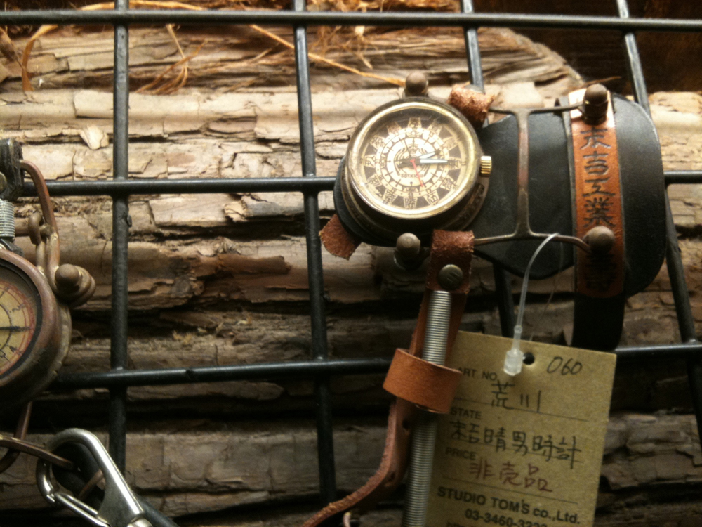 Sueyoshi Haruo's steampunk watches on display at Studio Toms, Tokyo