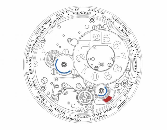A. Lange & Söhne LANGE 1 TIME ZONE City Wheel